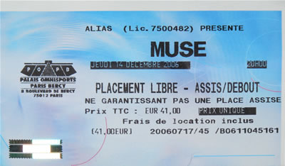 Muse Live in Paris Bercy 2006